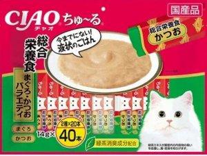 Лакомство INABA соус для кошек Mix тунец-бонито и желторерый тунец 14гр 1шт