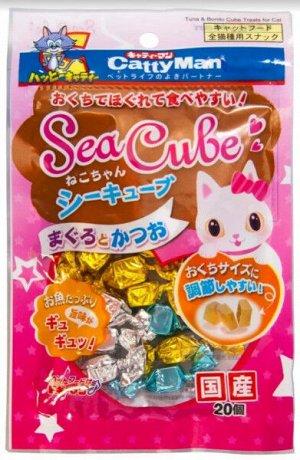 Морские кубики из желтоперого и японского тунца-бонито для кошек 20 кубиков в упаковке 35гр