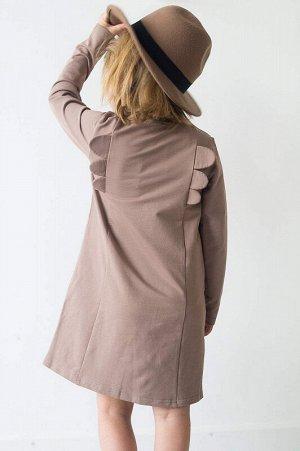 Платье с крылышками Мокко