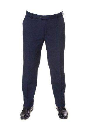 Брюки мужские синие 3522 на флисе