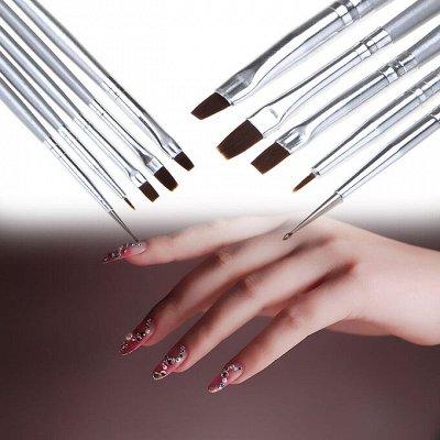 Индустрия красоты! Огромный выбор косметики — Кисти для дизайна ногтей, наклейки, трафареты