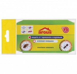 Клеевая ловушка ARGUS от тараканов домик с приманкой
