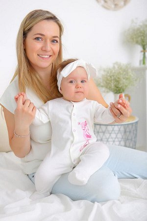 Комбинезон Малыш фламинго цвет молочный