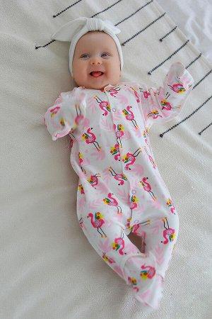 Комбинезон Малыш фламинго цвет Разноцветный