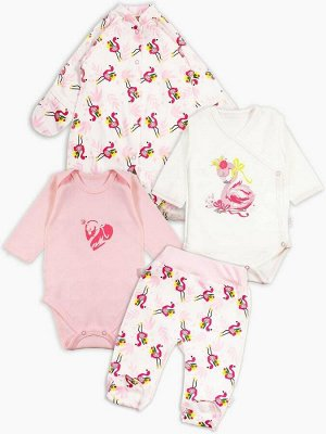 Комплект Малыш фламинго цвет Разноцветный