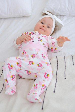 Кофточка Малыш фламинго цвет Разноцветный
