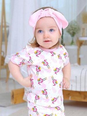 Футболка Малыш фламинго цвет Разноцветный