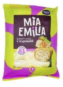 Блинчики, Mia Emilia, с курицей(лоток), Сибирский Гурман, 360 г, (6)