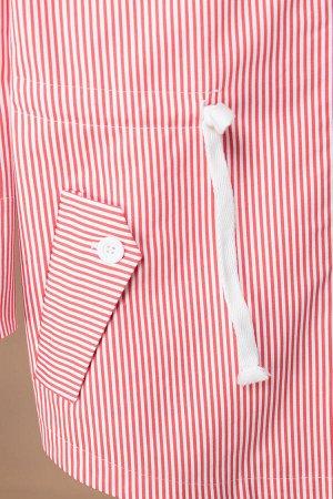 Куртка Куртка Linia-L А-1865  Состав: ПЭ-28%; Спандекс-2%; Хлопок-70%; Сезон: Весна-Лето Рост: 164  Летняя куртка-парка с капюшоном, выполненная из хлопкового джинса в полоску. Линия плеча спущена. С