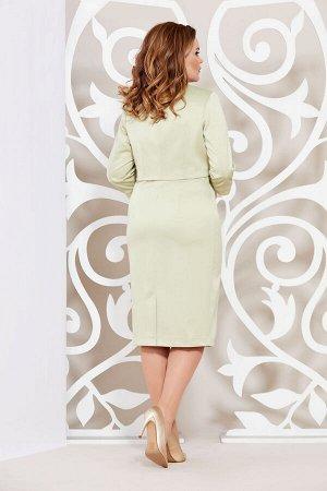 Платье Платье Mira Fashion 3133-2  Состав: ПЭ-95%; Спандекс-5%; Сезон: Весна Рост: 164  Комплект в классическом стиле состоящий из платья и укороченного жакета выполнен из костюмно-плательной ткани с