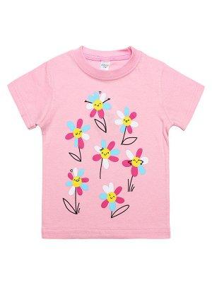 Футболка для девочки Bonito D001D розовый