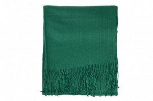 Шарф-палантин из шерсти и хлопка, цвет зелёный