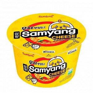 """Лапша """"Samyang"""" со вкусом сыра Cheese big bowl 105г"""