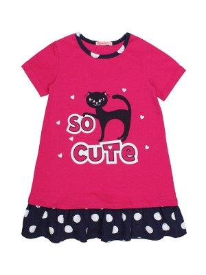Платье для девочки BK1476P фуксия