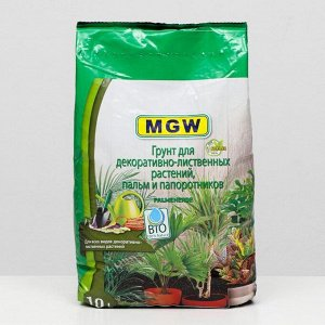Грунт MGW для декоративно-лиственных растений, пальм и папоротников, 10 л