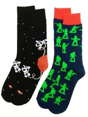 Носки махровые цветные 2 пары (разм 39-42)