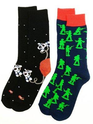 Носки махровые цветные 2 пары (разм 43-46)