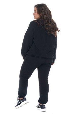 Худи-5138 Материал: Трикотаж;   Фасон: Худи; Длина рукава: Длинный рукав; Параметры модели: Рост 163 см, Размер 50 Худи однотонное черное (трехнитка) высокий рост Удобное худи из высококачественного т