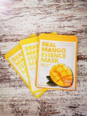 Набор маска-салфетка д/лица с экстрактом манго Farm Stay- 3шт
