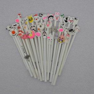 Гелевые черные ручки в цветном корпусе (5 шт)