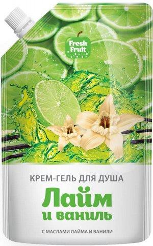 FRESH FRUIT Крем-гель д/душа с маслом лайма и ванили /200