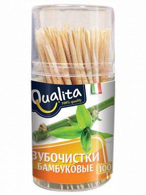 Зубочистки Qualita бамбуковые 100 шт.