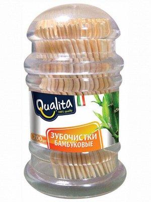 Зубочистки Qualita бамбуковые 200 шт.