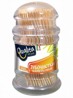Зубочистки Qualita бамбуковые 300 шт.