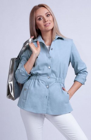 Рубашка Рубашка Azzara 775  Состав: Спандекс-5%; Хлопок-95%; Сезон: Весна Рост: 170  Куртка женская из хлопковой ткани, рубашечного покроя, с втачным рукавом на манжете по низу рукава, по переду и сп