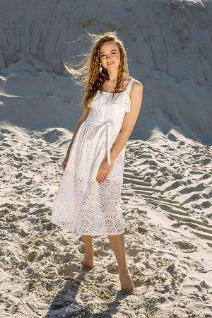 Платье Платье Pur Pur 01-725/2  Состав: Хлопок-100%; Сезон: Лето Рост: 170  Платье на бретелях из хлопкового шитья.
