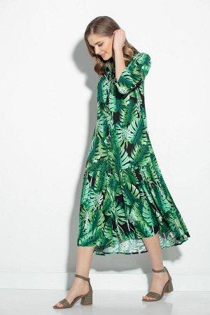 Платье Платье Gizart 5062-1з  Состав: Вискоза-85%; ПЭ-15%; Сезон: Лето Рост: 164  Платье А-образного силуэта. Перед с нагрудными вытачками. По центру переда обработана застежка-цельнокроеная планка н