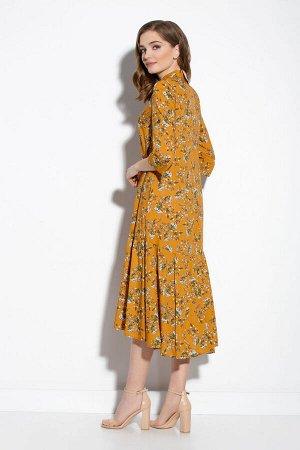 Платье Платье Gizart 5062-1гор  Состав: Вискоза-85%; ПЭ-15%; Сезон: Лето Рост: 164  Платье А-образного силуэта. Перед с нагрудными вытачками. По центру переда обработана застежка-цельнокроеная планка