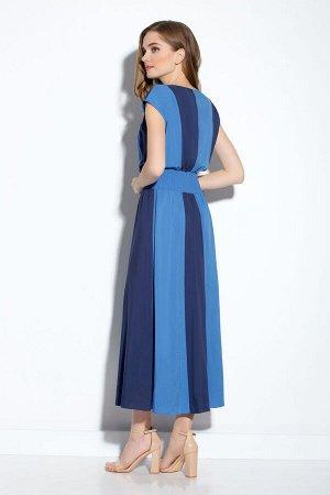 Платье Платье Gizart 1159с1  Состав: Вискоза-100%; Сезон: Лето Рост: 164  Платье женское Х-образного силуэта со спущенным плечом отрезное по линии талии, состоящее из двух цветов ткани, расположеных