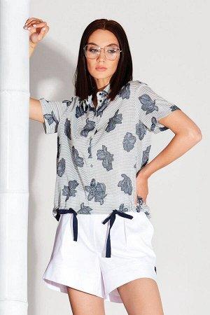 Блуза Блуза NOCHE MIO 6.158  Состав: Вискоза-62%; Хлопок-38%; Сезон: Весна-Лето Рост: 164  Элегантная блуза из смесового полотна премиального качества.