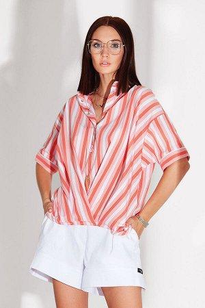 Блуза Блуза NOCHE MIO 6.080  Состав: ПЭ-23%; Спандекс-3%; Хлопок-74%; Сезон: Лето Рост: 164  Стильная рубашка оригинального кроя с застёжкой на кнопки.