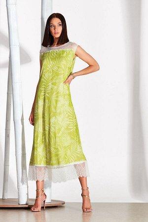 Платье Платье NOCHE MIO 1.133 №1  Состав: Вискоза-100%; Сезон: Лето Рост: 164  Платье из лёгкого вискозного полотна с отделкой из изящного кружева.