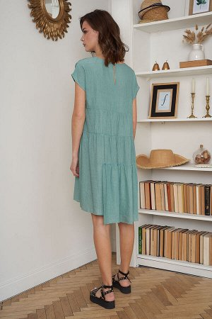 Платье Платье Fantazia Mod 3715  Состав: Вискоза-87%; ПЭ-13%; Сезон: Лето Рост: 164  Лето-прекрасная пора, чтобы насладиться теплом, легкостью и беззаботностью. Летом можно позволить себе самые необы