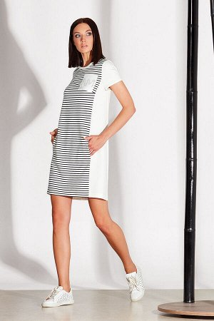 Платье Платье NOCHE MIO 1.162  Состав: Вискоза-66%; Спандекс-7%; Нейлон-27%; Сезон: Лето Рост: 164  Комфортное летнее платье прямого кроя.