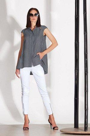 Блуза Блуза NOCHE MIO 6.088  Состав: ПЭ-20%; Хлопок-80%; Сезон: Лето Рост: 164  Комфортная блузка свободного рубашечного кроя подойдёт для создания повседневных и офисных образов.