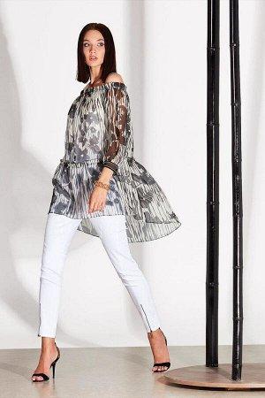 Блуза Блуза NOCHE MIO 6.106-2  Состав: Вискоза-100%; Сезон: Лето Рост: 164  Блузка свободного кроя из лёгкого вискозного полотна в комплекте с топом.