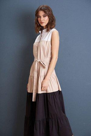 Платье Платье Fantazia Mod 3964  Состав: Спандекс-3%; Хлопок-63%; Нейлон-34%; Сезон: Лето Рост: 164  Платье-парашют - самое трендовое платье в сезоне лето 2021. Это свободное платье из нескольких яру