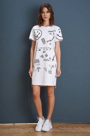 Платье Платье Fantazia Mod 3976  Состав: Спандекс-4%; Хлопок-96%; Сезон: Лето Рост: 164  Одним из лучших вариантов создать модный и комфортный образ за минуту является платье-футболка. Выполненное из