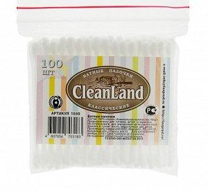 Ватные палочки CleanLand 100 в пакетике  «зип-лок»