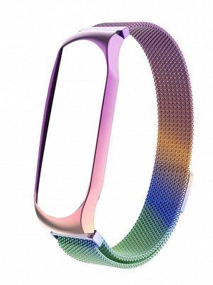 Металлический ремешок для фитнес-браслета Xiaomi Mi Band 5 миланская петля
