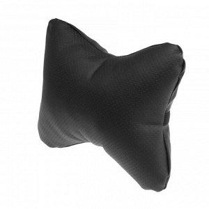 Подушка автомобильная, экокожа, черная