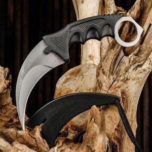 Нож-керамбит нескладной черная рукоять, клинок 9,5см