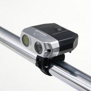 Фонарь велосипедный аккумуляторный 6 Вт, 1200 mAh, COB, USB, 4 режима 6.3х6х2.5 см