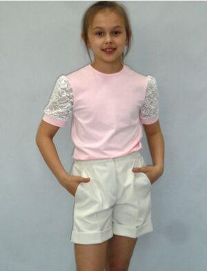 Джемпер детский розовый