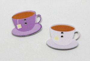 """Пуговица деревянная-""""Чашка чая"""""""