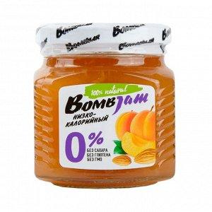 """Низкокаллорийный джем, нестерилизованный ТМ """"BOMBBAR"""" ( Абрикос-миндаль) 240 гр 1*6"""